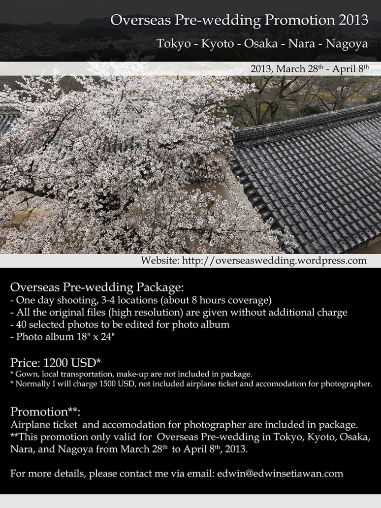 overseas prewedding promotion