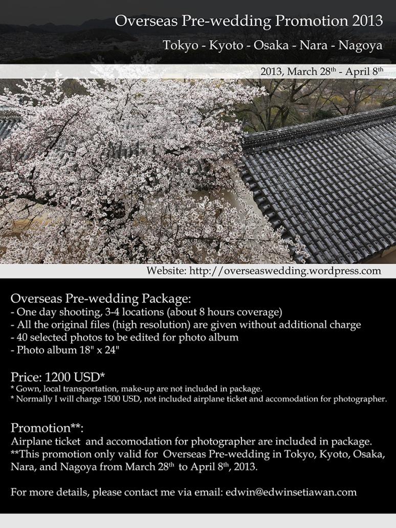 overseas prewedding promotion